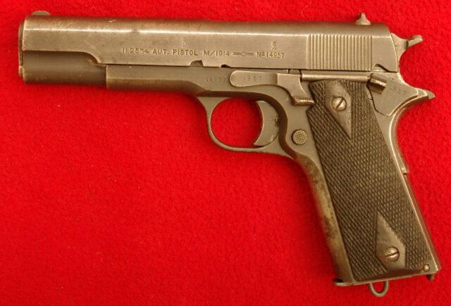 foto Pistole Kongsberg M/1914