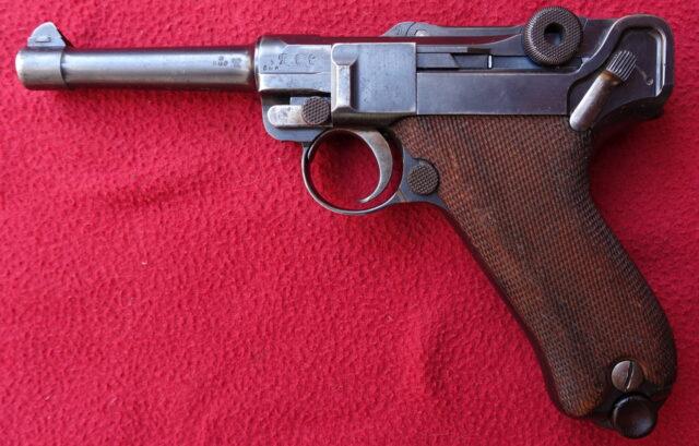 foto Pistole DWM P.08 – ročník 1909