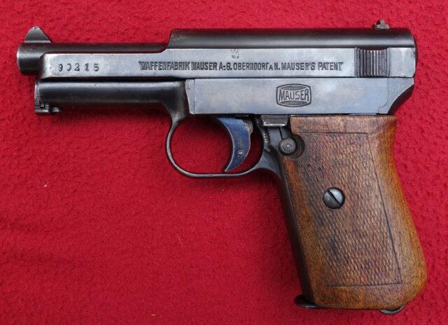 foto Pistole Mauser 1910/14 německé císařské armády