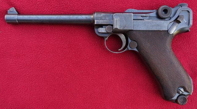 foto Pistole DWM P04 námořnický model