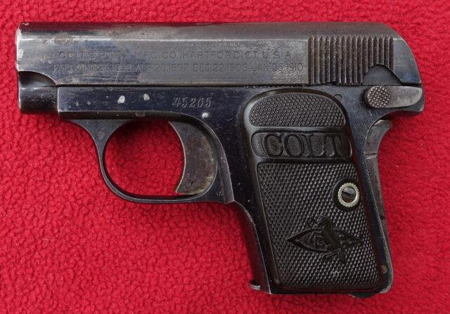 foto Pistole Colt 1908 Hammerless – REZERVOVÁNO