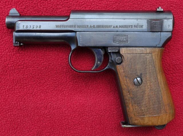 foto Pistole Mauser 1910/14 německé císařské armády – REZERVOVÁNO